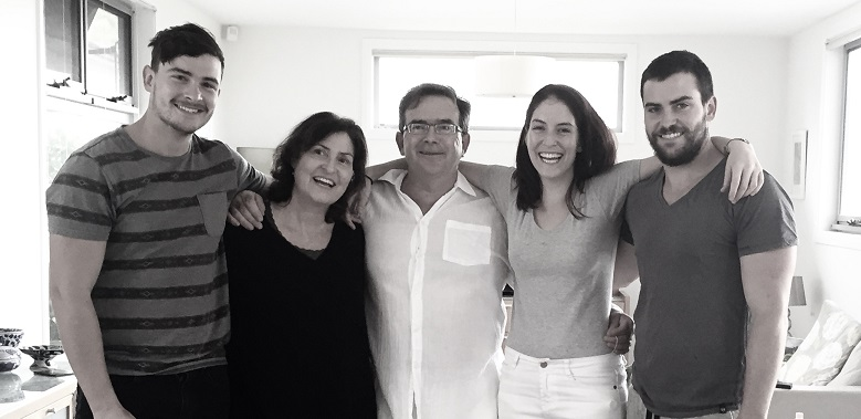 Ann and Martin with their three children Tim, Emma and Will